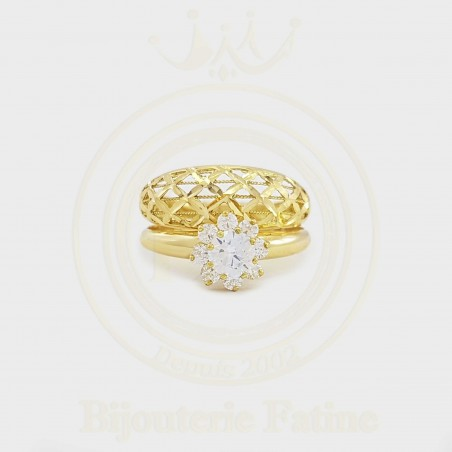 Alliance solitaire 318 en Or 18 carats